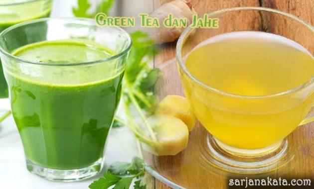 Jahe dan Green Tea