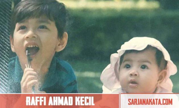 Raffi Ahmad Waktu Kecil