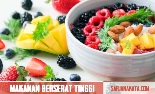 Oatmeal dan makanan berserat tinggi