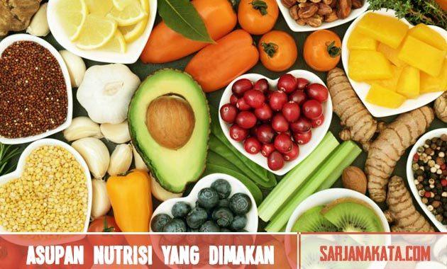 Memperhatikan asupan nutrisi yang dimakan
