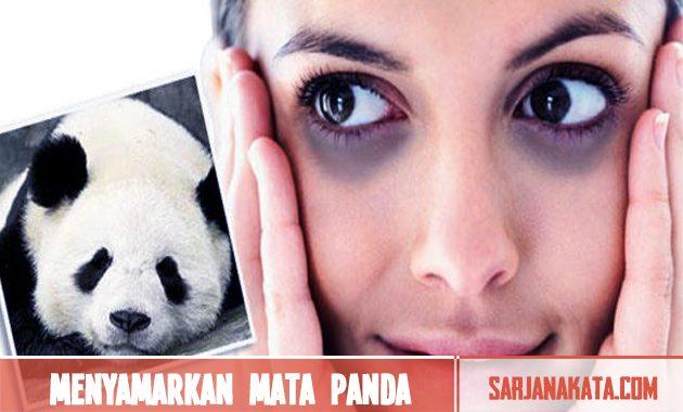 Menyamarkan kantung mata panda