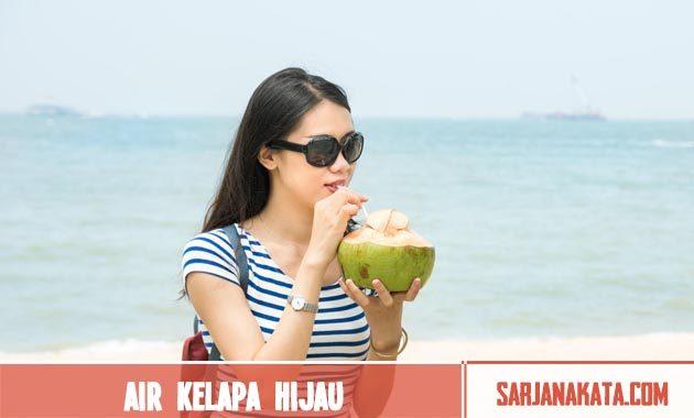 Air kelapa hijau