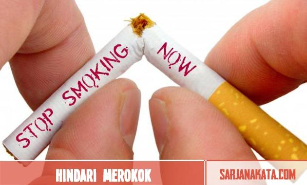 Hindari merokok