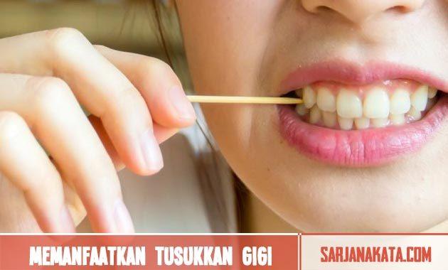 Memanfaatkan tusukkan gigi