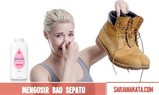 Mengusir bau busuk pada sepatu