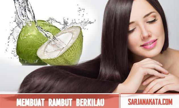 Membuat rambut berkilau